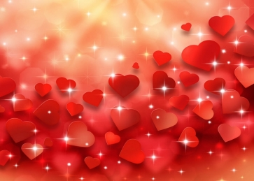 Valentine's Day Backdrop Red Lovely Sweetheart Love Background
