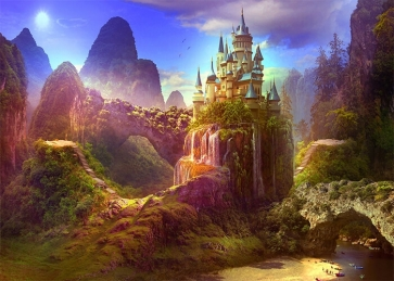 Beautiful Fairy Forest Castle Backdrop For Party Photography Background