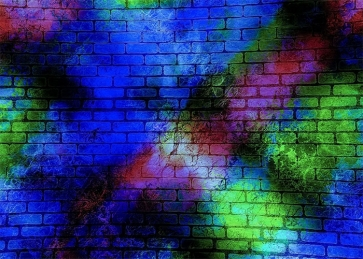 Personalise Colorful Brick Wall Backdrop Studio Video Photography Background Decoration Prop