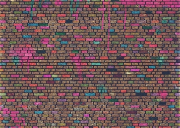Personalise Colorful Wall Brick Backdrop Studio Photo Booth Video Photography Background