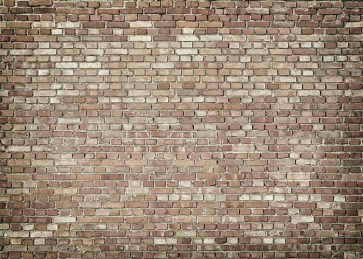 Personalise  Retro Light Brown Brick Wall Backdrop Studio Video Photography Background Decoration Prop