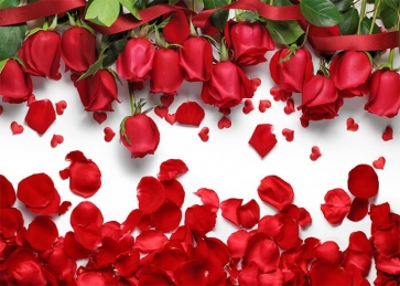 Red Rose Valentines Day Backdrop Wedding Photography Background