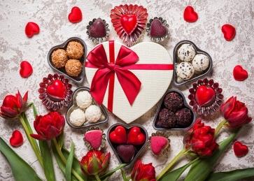 Sweet Chocolate Theme Valentines Backdrop Wedding Party Photography Background