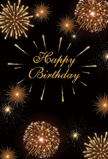 Happy Birthday Fireworks Backdrop Party Photography Background Decorations Props