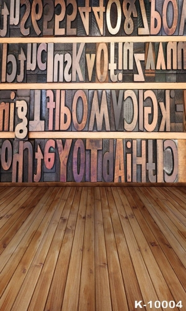 Professional Vinyl Wooden Floor Wall Personalized Backdrop