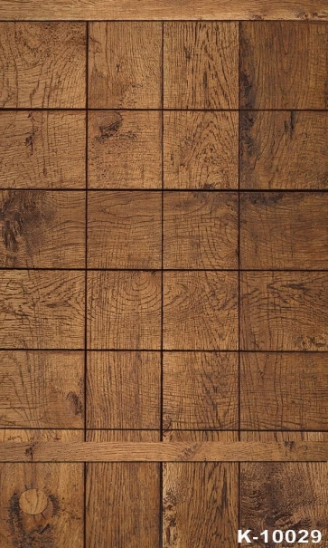Square Grid Wooden Board Vinyl Photography Background Portable Backdrop