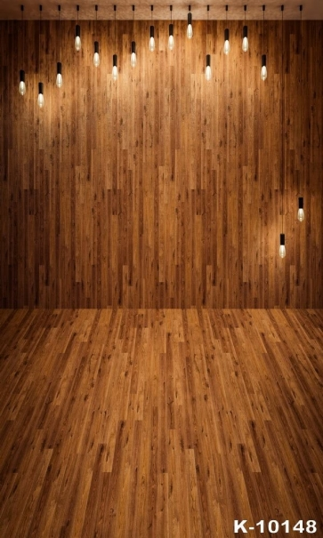 Bulb Wooden Wall Floor Vinyl Background Photography Stage Backdrop