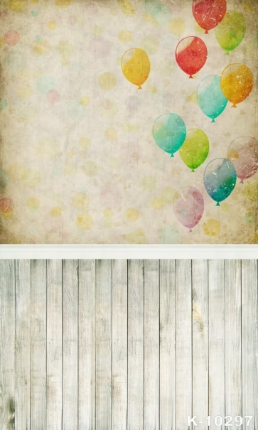 Full Of Childlike Colorful Balloons Background Walls Vinyl Studio Backdrop