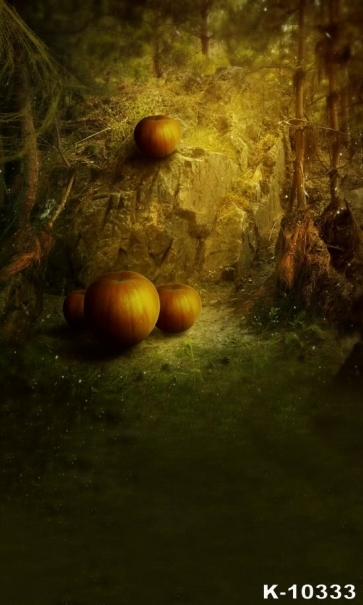 Cobweb Forest  Pumpkin Vinyl Halloween Photography Backdrops Studio Background