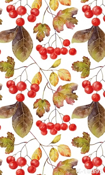 Red Cherry Tree Leaves Personalized Backdrop Studio Background