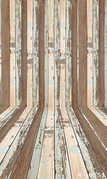 Vintage Old Personalized Wooden Floor Wall Vinyl Custom Photo Backdrops