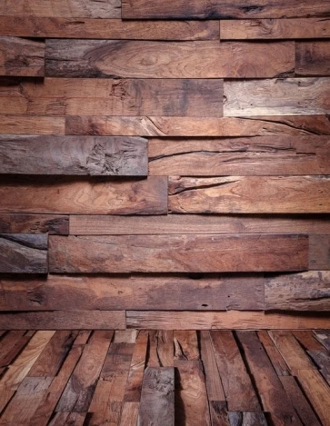 Uneven Wooden Floor Wall Vinyl Photography Background Portable Backdrop