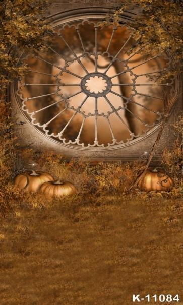Animated Cartoon Pumpkin Theme Photography Halloween Vinyl Backdrops