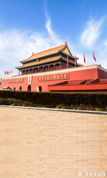 Chinese Capital Grand Rostrum of Tian An Men Building Vinyl Photography Backdrops