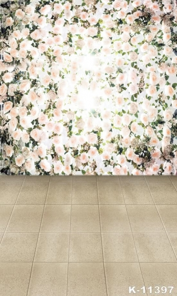 Flowers Wall Ceramic Tiles Floor Wedding Easy Backdrops for Photography