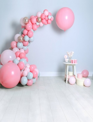 Baby Shower Backdrop With Balloons Custom Studio Portrait Photography Background Prop