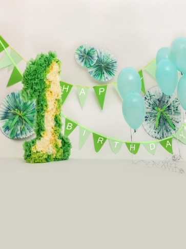 Baby One Year Old 1st Happy Birthday Party Banner Backdrop Photography Background Prop