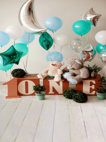 Baby Boy First 1 Year Old  Happy 1st Birthday Backdrop Decoration Prop Photography Background