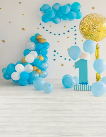 Baby First 1 Year Old Happy 1st Birthday Balloon Backdrop Decoration Prop Photography Background