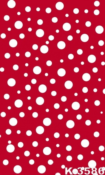 Simple White Polka Dots Red Personalized Backdrop Vinyl Photography Backdrops