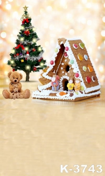 Biscuit House Cubs Christmas Tree Christmas Photography Photo Vinyl Backdrops
