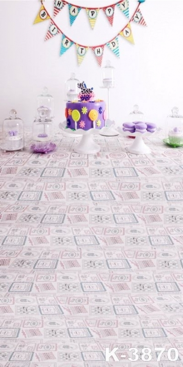 Purple Cake Birthday Party Theme Children Photography Photo Backdrops