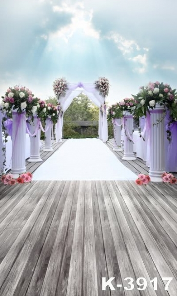 Outdoor Romantic Wedding Venue Vinyl Wedding Photography Backdrops