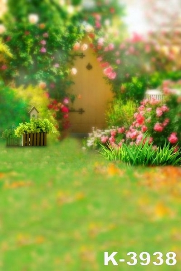 Hazy Lovely Garden Children Photo Background Vinyl Backdrops