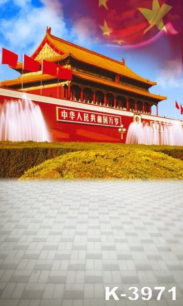 Magnificent Chinese Capital Beijing Tian An Men Building Backdrops Vinyl Photography Backdrops