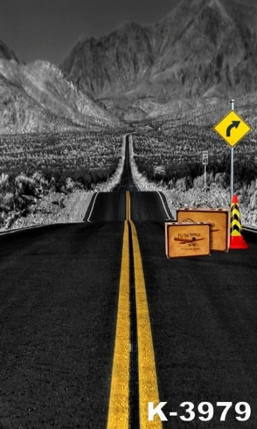 Road to Distance Scenic Backdrops Vinyl Photography Background