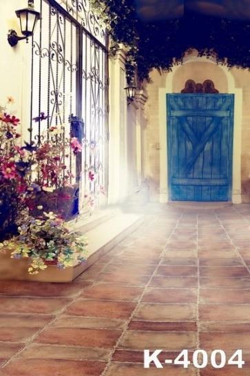 Romantic Courtyard Doorstep Studio Background Wedding Photo Backdrops