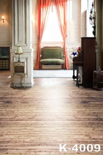 Indoor Plank Floor Piano Wedding Photo Backdrops Studio Background