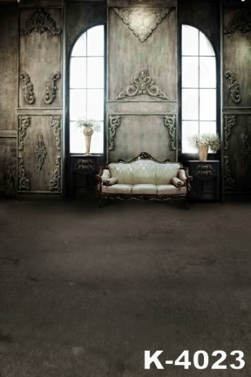 Retro Indoor Hall Sofa Vinyl Photo Backdrops Wedding Photo Backdrops