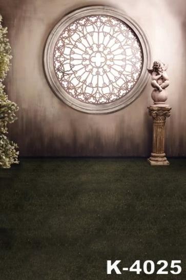 Western Style Indoor Delicate Window Vinyl Wedding Photo Backdrops