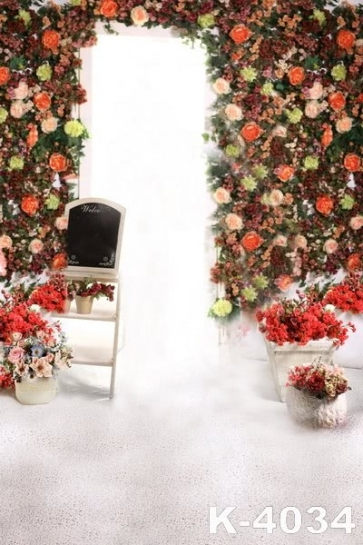 Colorful Flowers Wedding Vinyl Photography Backdrops