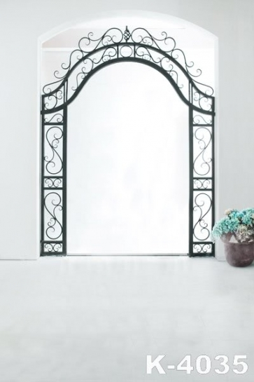 Simple Indoor Flowers Wedding Vinyl Photography Backdrops