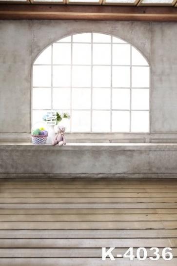 Simple Indoor Windowsill Plank Floor Wedding Studio Photo Backdrops