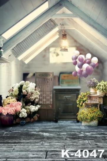 Cozy Beautiful Indoor Flowers Wedding Vinyl Photography Backdrops