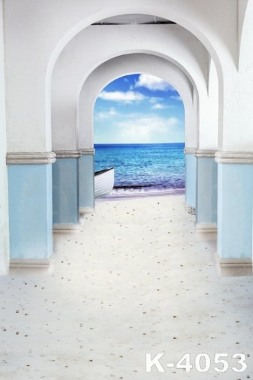Sandy Beach Passageway to the Sea Wedding Photo Backdrops Studio Background