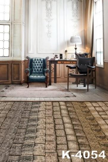 Indoor Brick Floor Study Studio Background Wedding Photo Backdrops