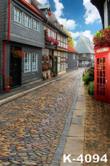 Retro Ancient Stone Street Road Building Backdrops Vinyl Photography Background