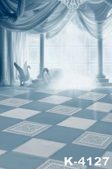 Dreamy Palace Swans Romantic Wedding Photo Backdrops Studio Background