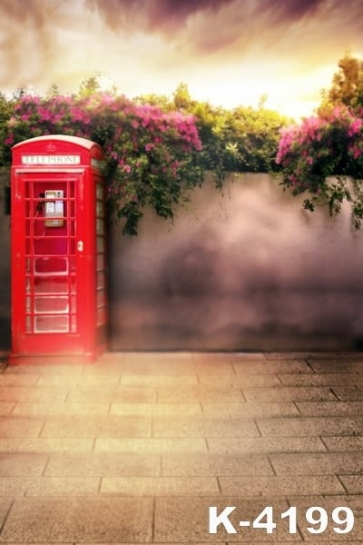 Scenic Backdrops Telephone Booth Studio Background Vinyl Photography Backdrops