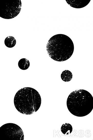 Black Small Big Dots White Personalized Vinyl Backdrops