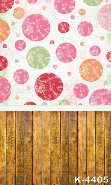 Color Pattern Wallpaper With Wooden Floor Stitching Vinyl Studio Backdrops