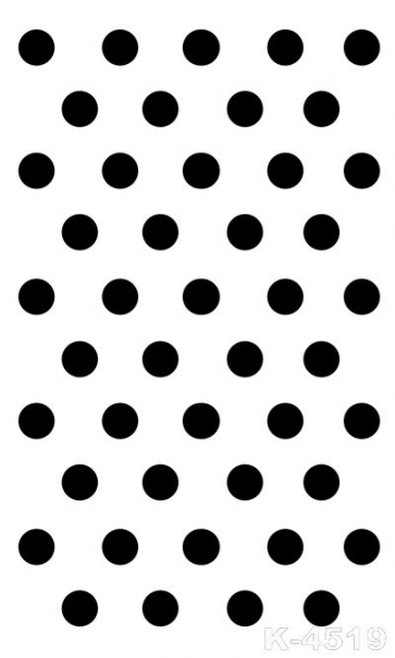 Neatly Arranged Black Polka Dots White Vinyl Personalized Backdrops