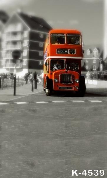 Retro Bus Studio Background Vinyl Photography Portable Backdrops