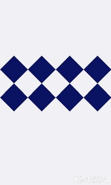 Simple Pattern Dark Blue Rhombus Personalized Vinyl Backdrop