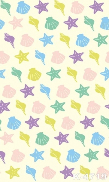 Colorful Conch Starfish Shell Vinyl Photo Backdrops Personalized Backdrop