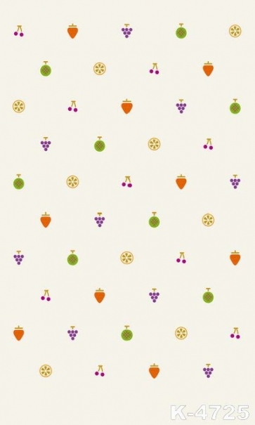 Colorful Fruits Beige Studio Background Personalized Backdrop